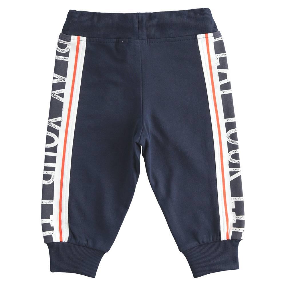 Штаны спортивные для мальчика iDO эластичный трикотаж на манжете 4.J245.00/3885