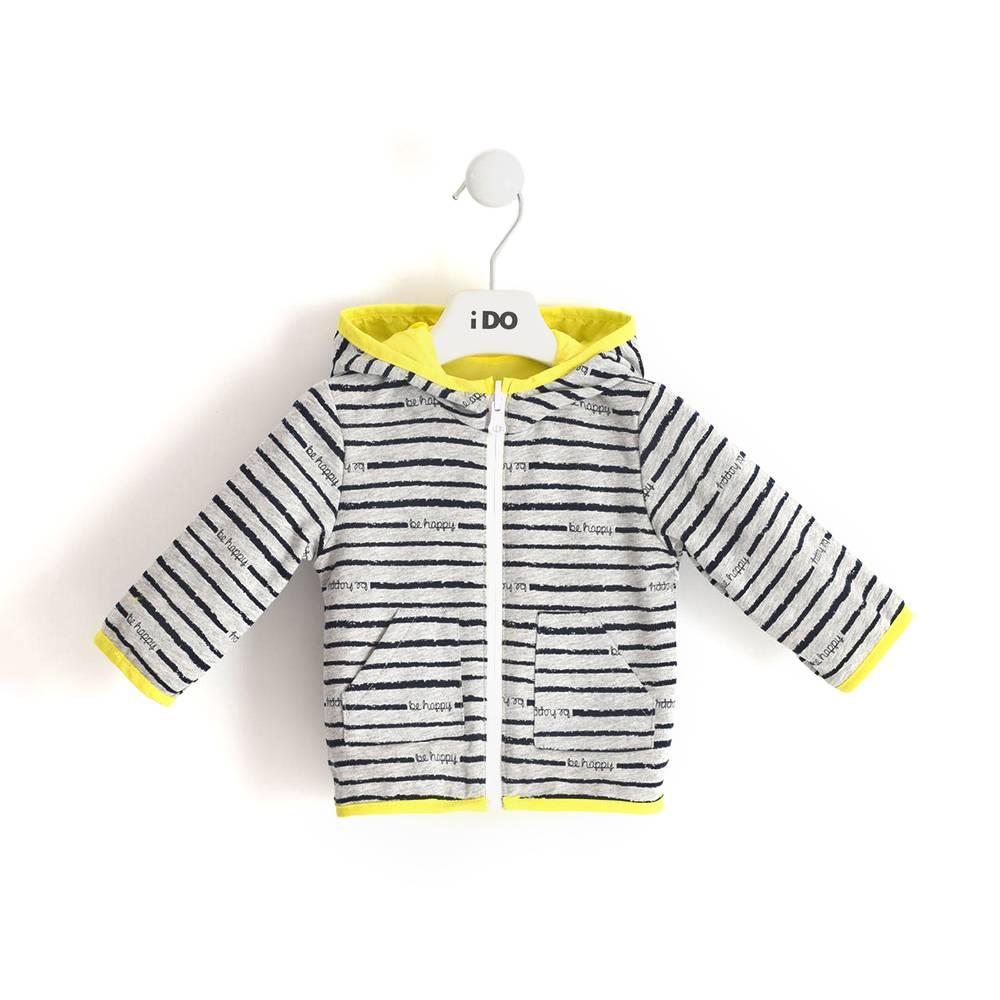 Куртка для мальчика iDO демисезонная двухсторонняя с капюшоном 4.J048.00/1434