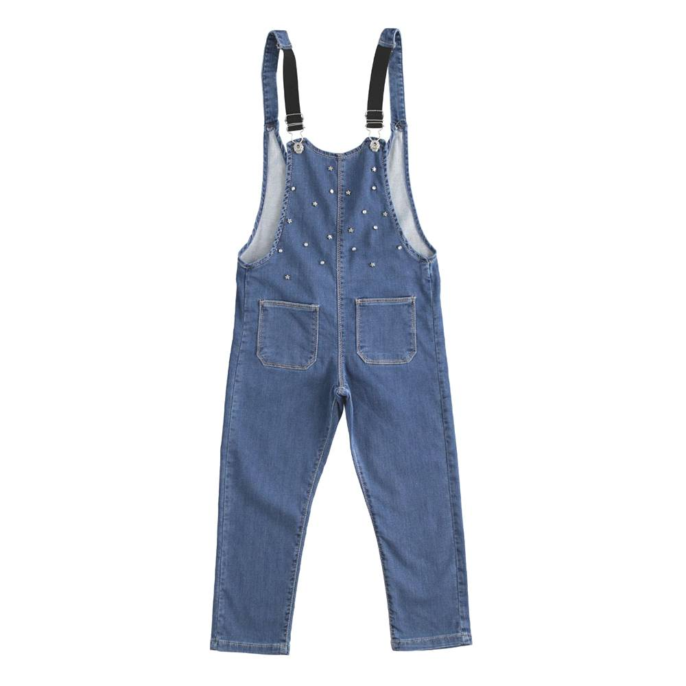 Комбинезон для девочки iDO демисезонный джинсовый 4.W340.00/6FV3