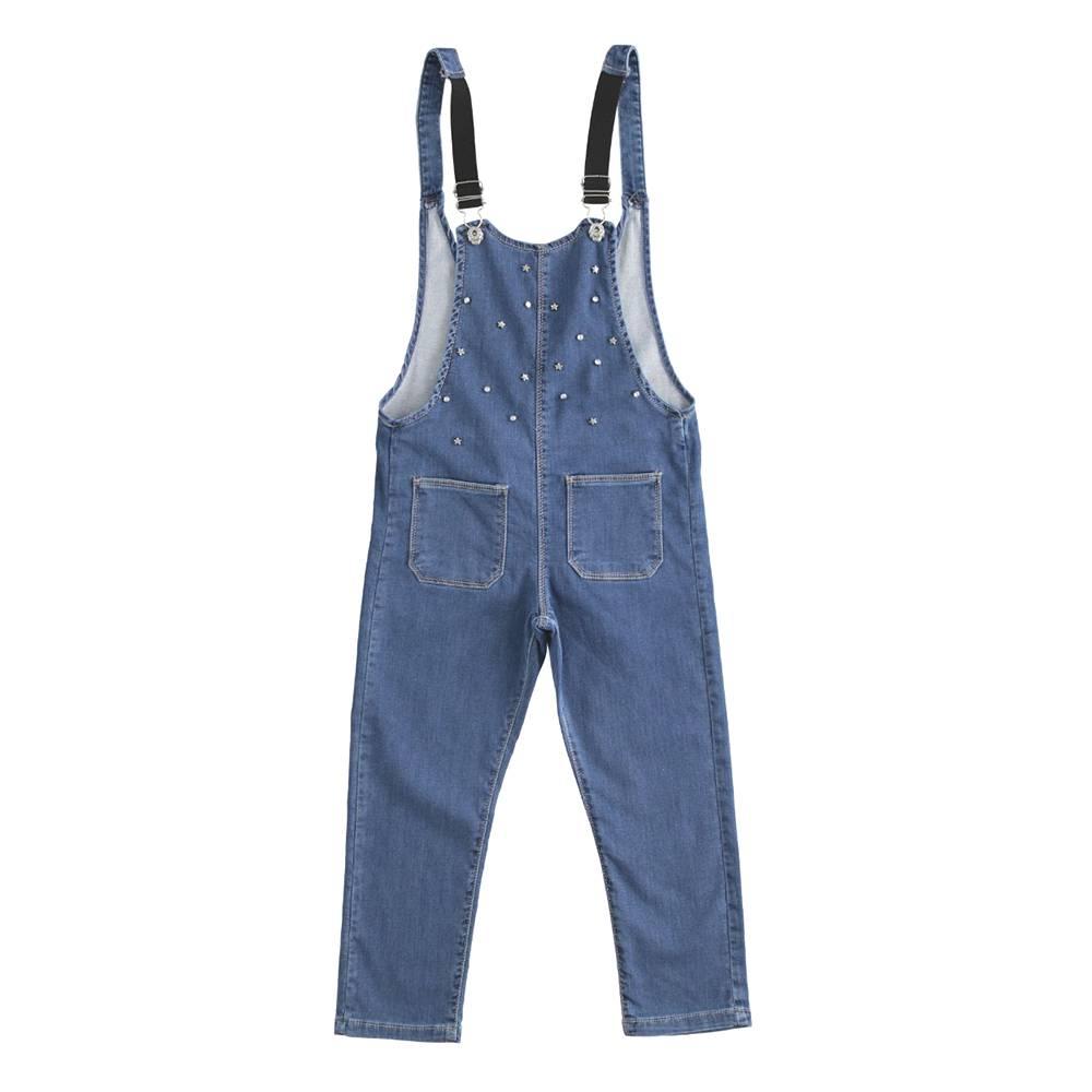 Комбинезон для девочки iDO демисезонный джинсовый 4.J537.00/7400