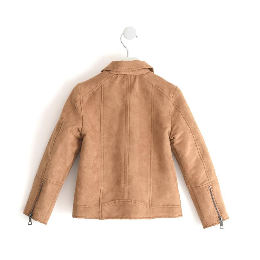 Куртка байкерская для девочки iDO замшевая демисезонная 4.J554.00