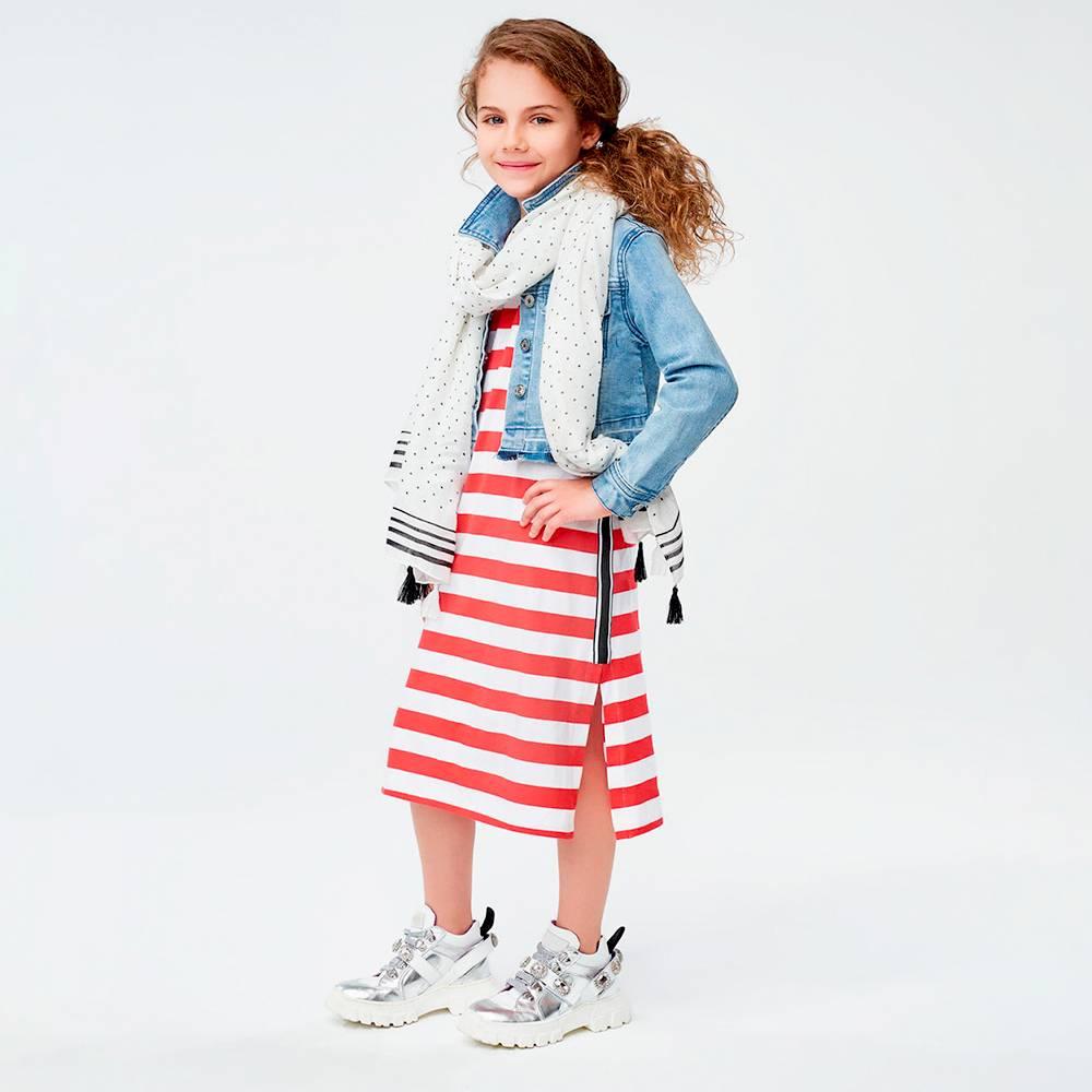 Куртка для девочки iDO подростка джинсовая 4.J465.00/7180