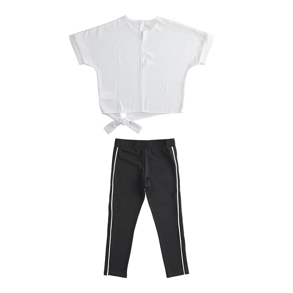 Комплект костюм для девочки iDO летний трикотаж футболка леггинсы 4.J562.00/8057