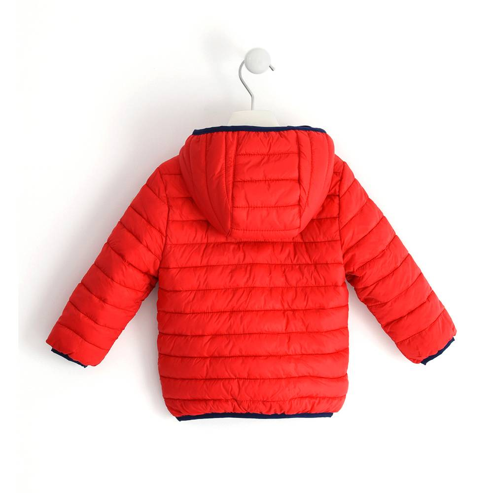 Куртка для мальчика iDO демисезонная утепленная с капюшоном 4.J044.00