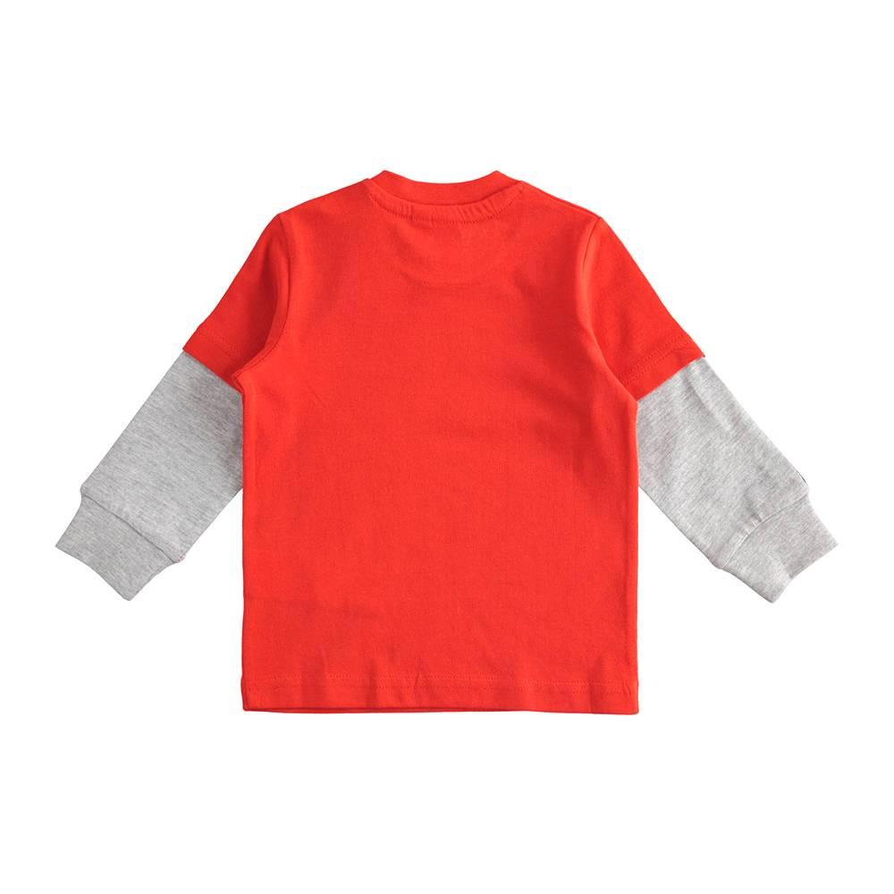 Реглан для мальчика iDO трикотажный хлопок принт 4.J222.00/2235