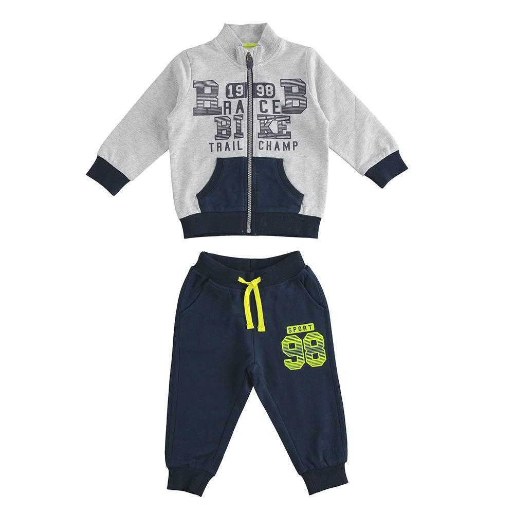 Комплект для хлопчика iDO спортивний трикотажний з капюшоном 4.J268.00/8008
