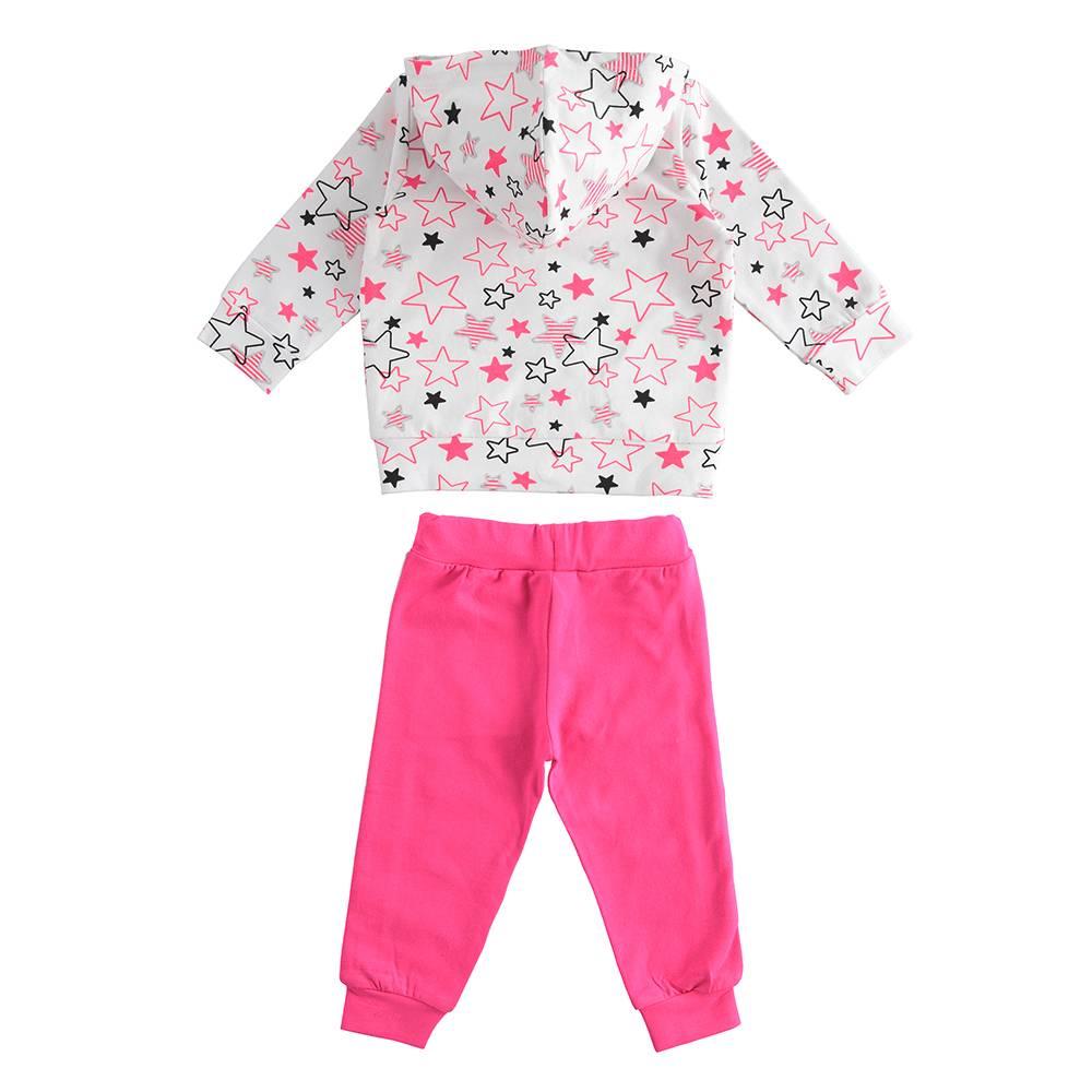 Комплект костюм для девочки iDO трикотаж толстовка с капюшоном штаны 4.J276.00/8043