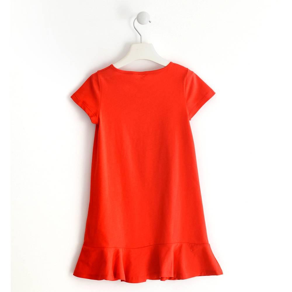 Платье для девочки iDO хлопок трикотаж принт 4.J036.00/2235