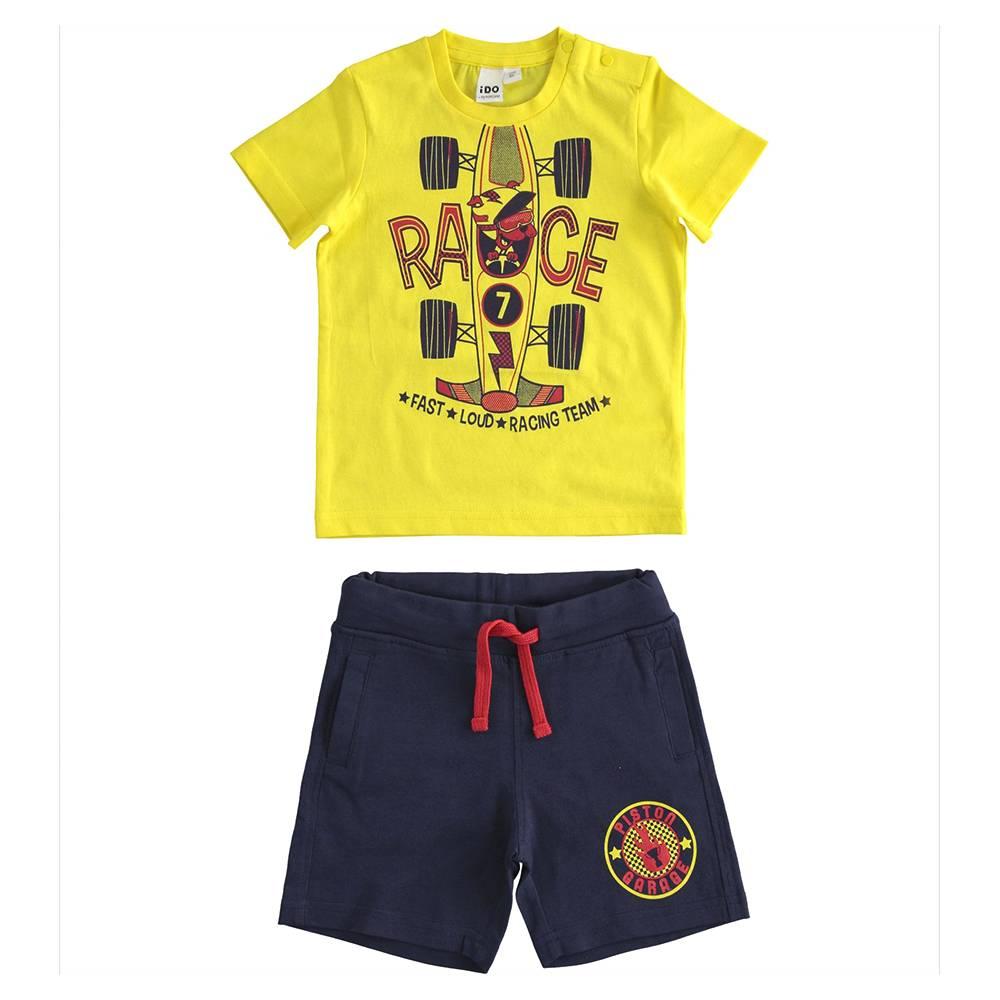 Комплект для мальчика iDO летний спортивный хлопок трикотаж принт 4.J026