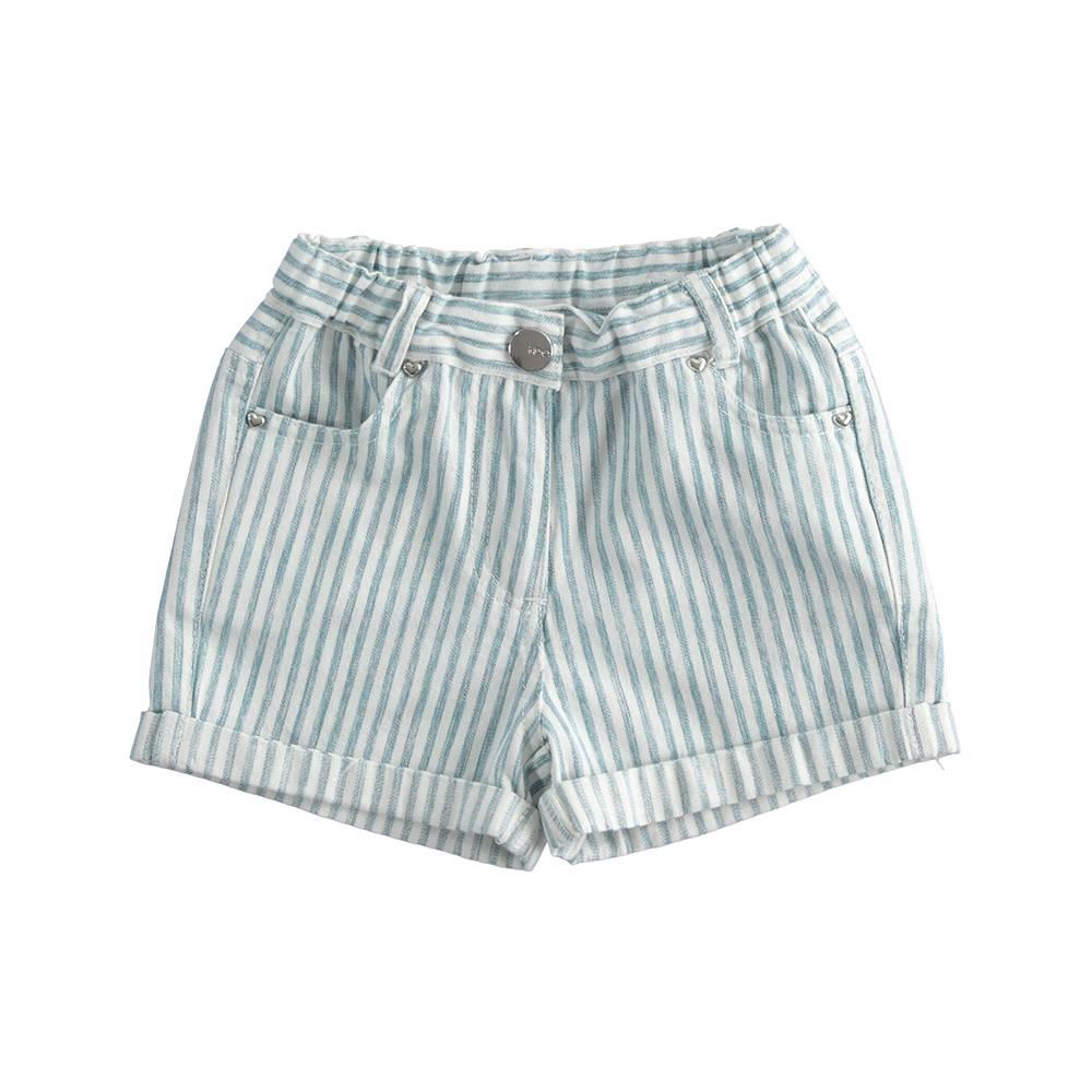 Шорты для девочки iDO летние полосатый с отворотами хлопок 4.J774.00/3654