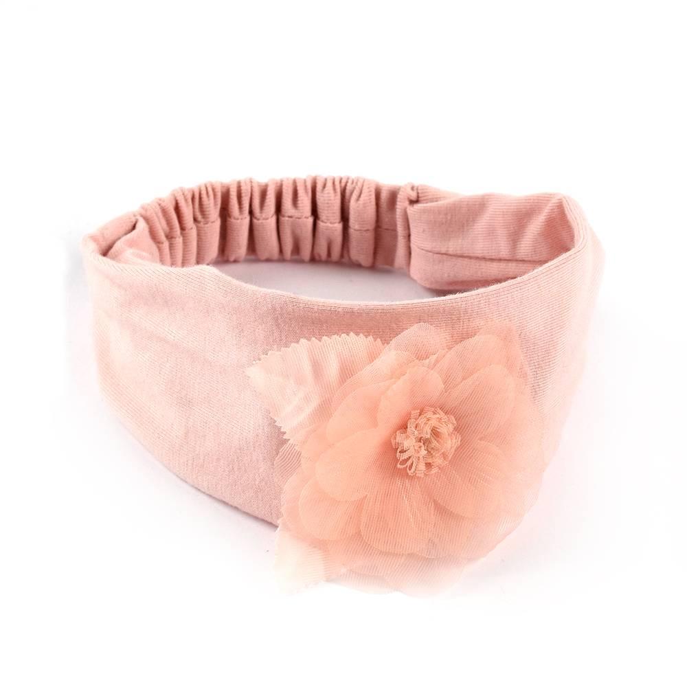 Повязка для девочки iDO трикотаж цветок органза 4.J950.71/2617
