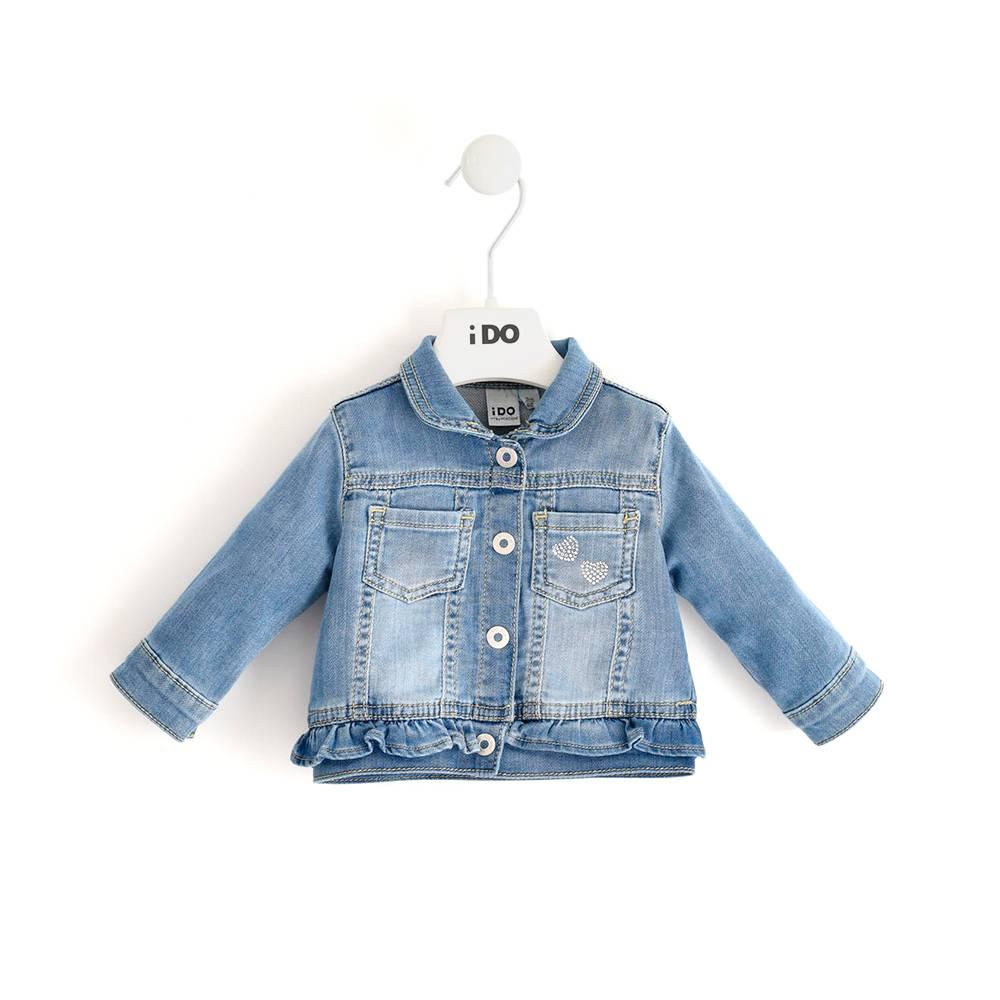 Куртка для девочки iDO джинсовая 4.J168.00/7350