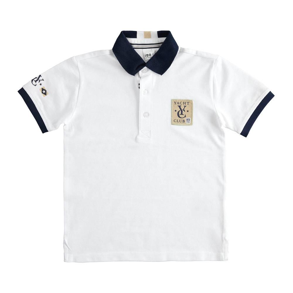 Поло футболка для мальчика iDO подростка трикотаж хлопок принт 4.J390.00/0113