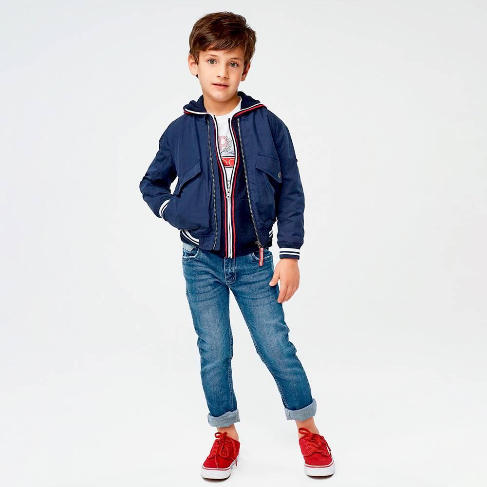 Куртка бомбер для мальчика iDO демисезонная 4.J467.00/3885