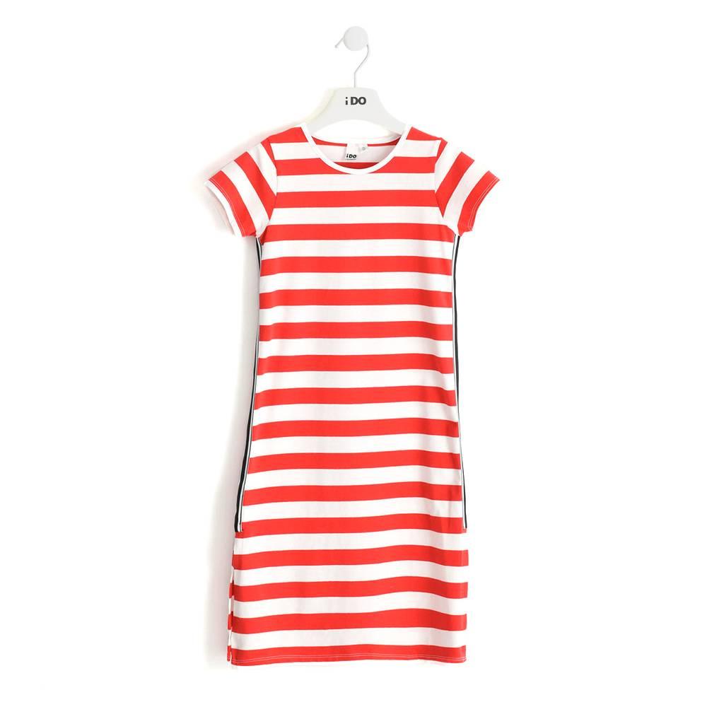 Платье для девочки iDO хлопок полосатый трикотаж 4.J546.00/2235