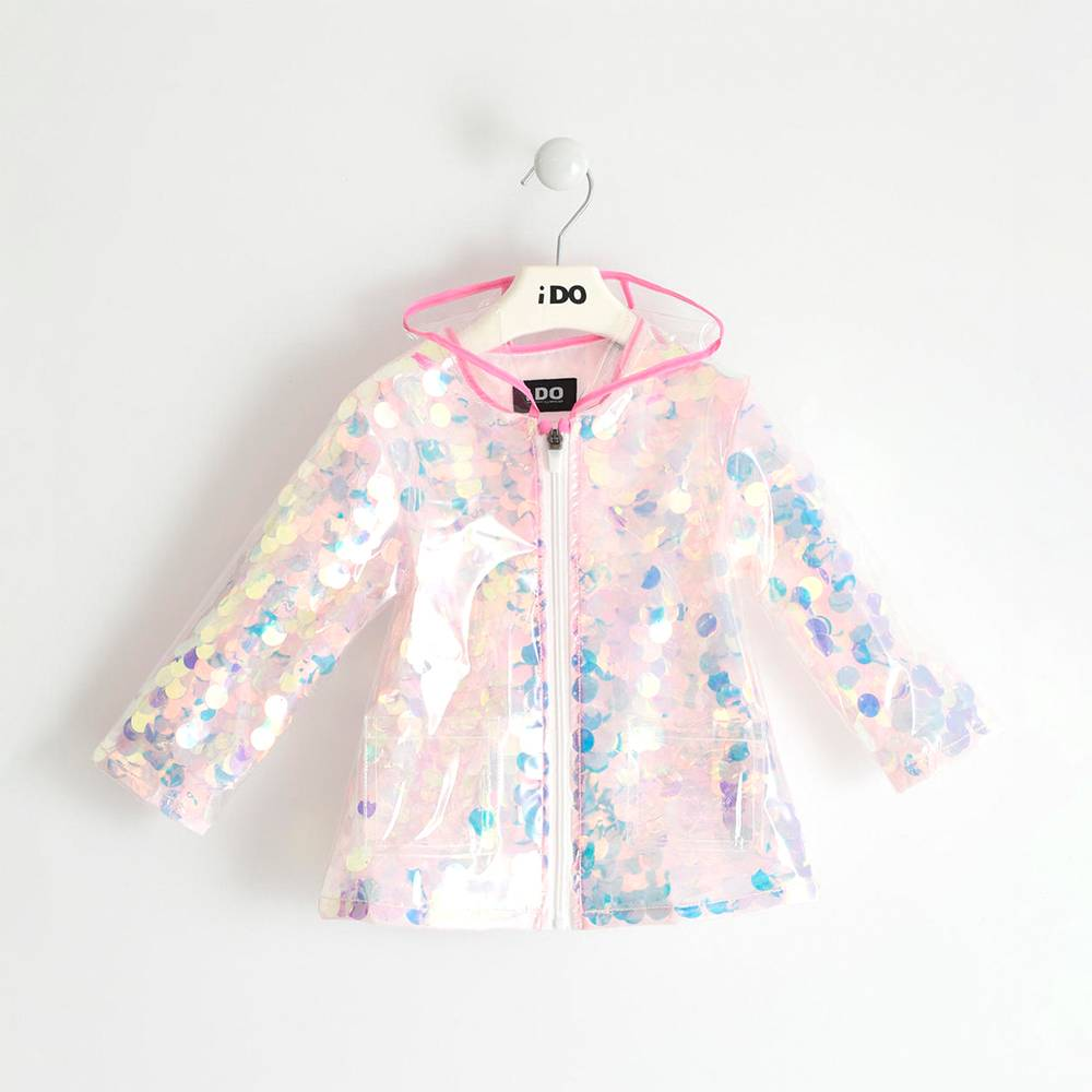 Куртка для девочки iDO дождевик ветровка с капюшоном 4.J353.00/8463