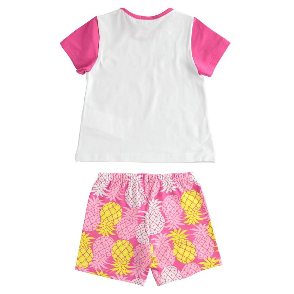 Пижама для девочки iDO летняя трикотаж хлопок принт 4.J172.00/8043