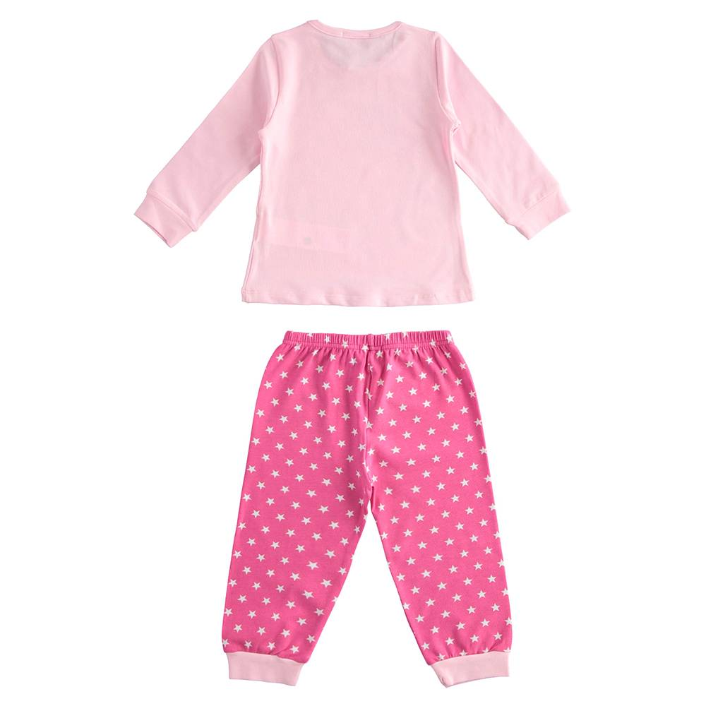 Пижама для девочки iDO демисезонная хлопок трикотаж принт 4.J176.00/5819