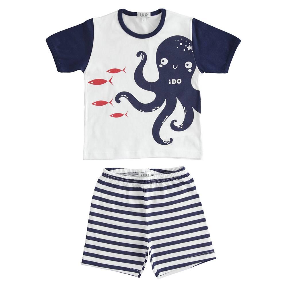 Пижама для мальчика iDO летняя трикотаж хлопок принт 4.J178.00/5070