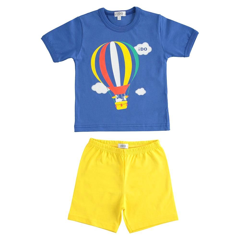 Пижама для мальчика iDO летняя трикотаж хлопок принт 4.J179.00/1614