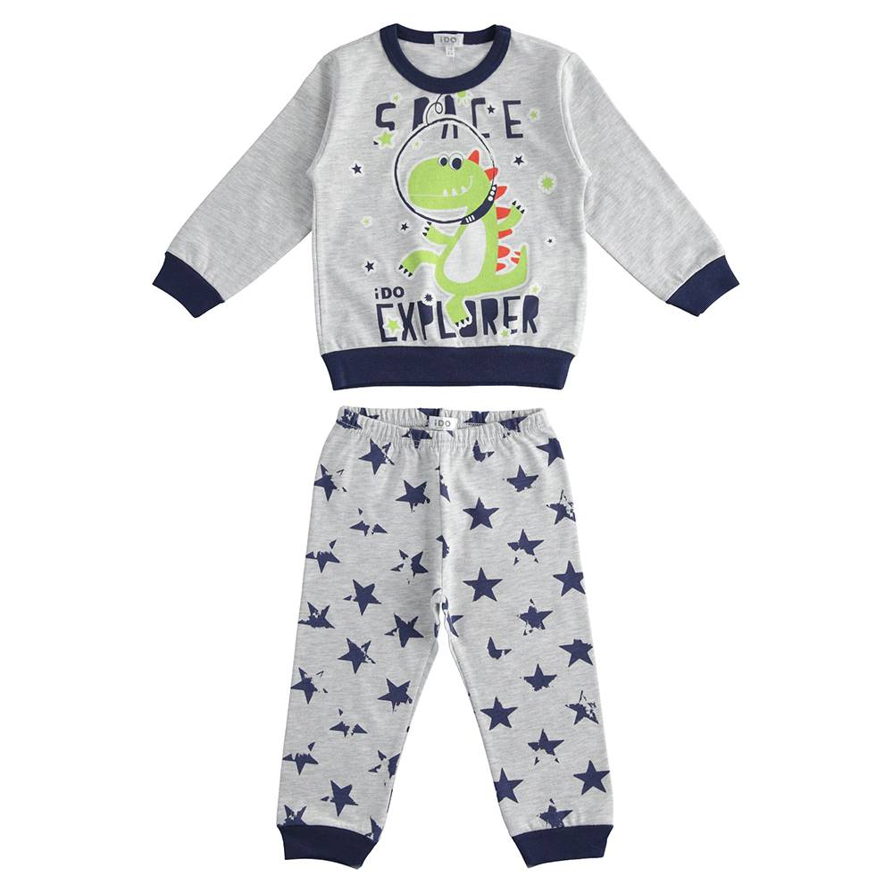 Пижама детская iDO демисезонная трикотаж хлопок принт 4.J181.00/8992