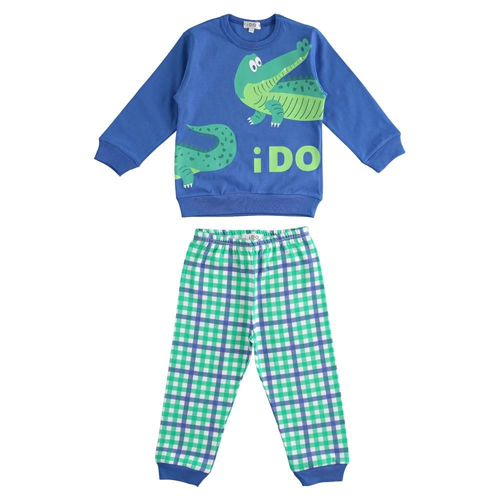 Пижама для мальчика iDO демисезонная трикотаж хлопок принт 4.J182.00/4421