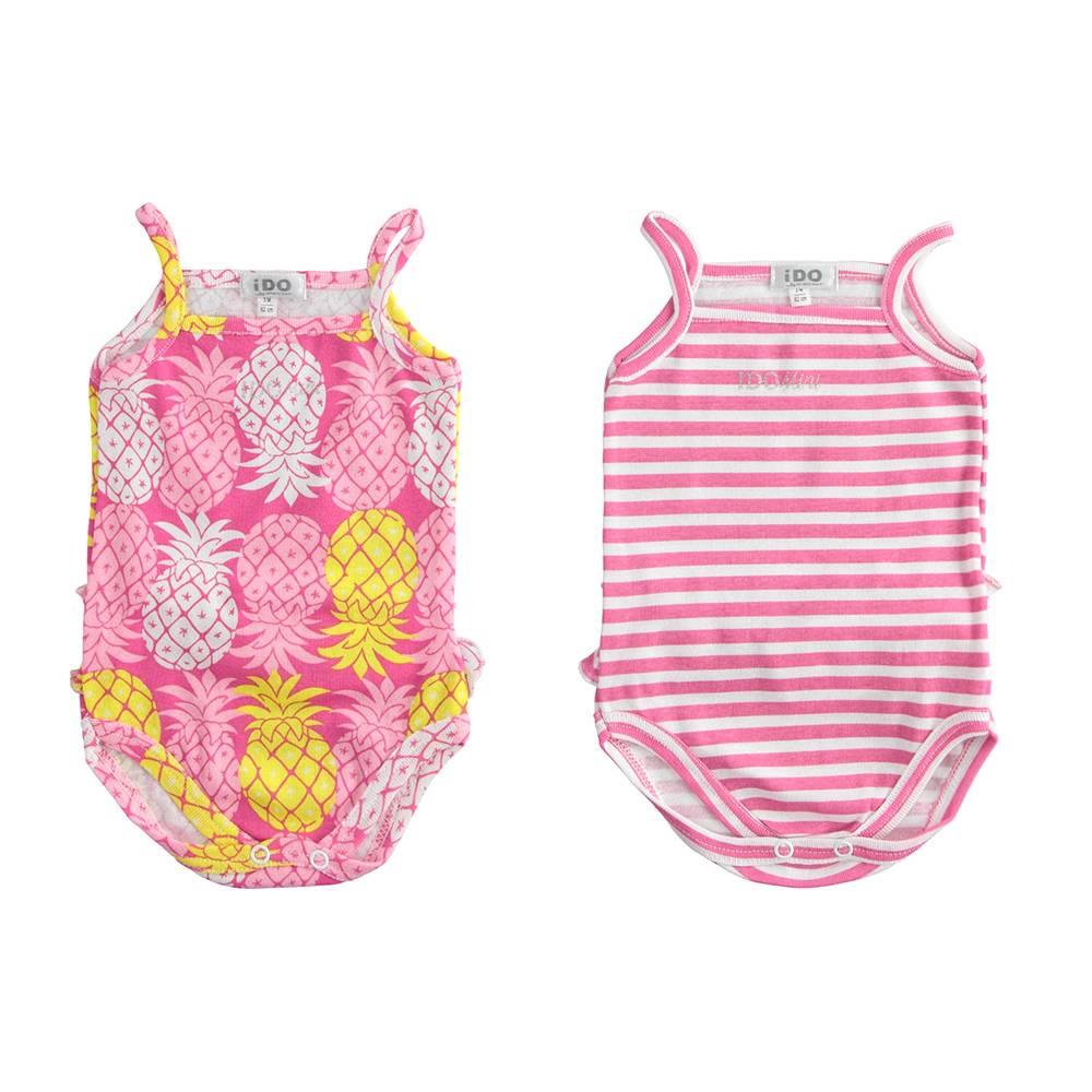 Боди комплект для девочки iDO летний короткий рукав хлопок трикотаж 4.J235.00/5819