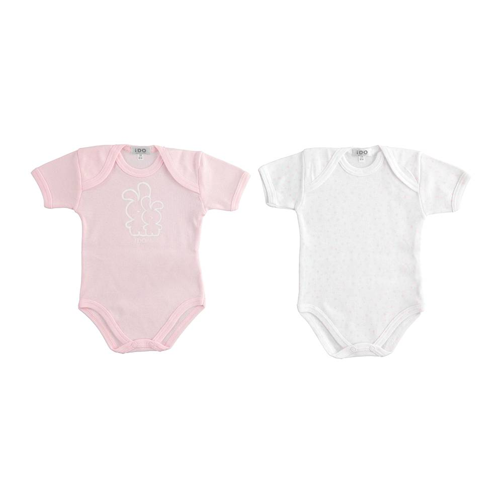 Боди комплект для девочки iDO летний короткий рукав хлопок трикотаж 4.J253.00/0542