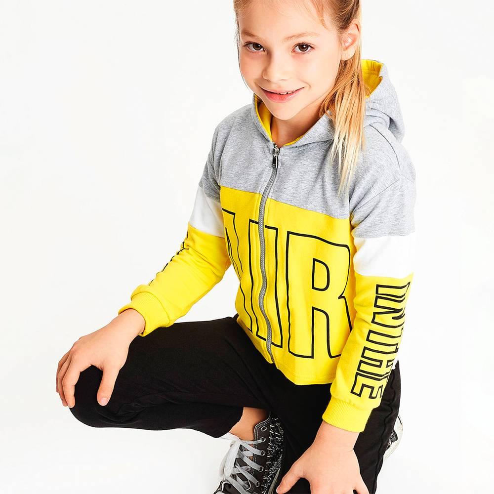 Комплект для девочки iDO спортивный подросток толстовка леггинсы трикотаж 4.J572.00
