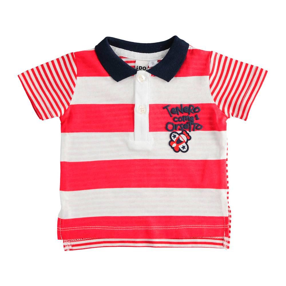 Поло футболка для мальчика iDO трикотаж хлопок принт 4.J603.00/2256