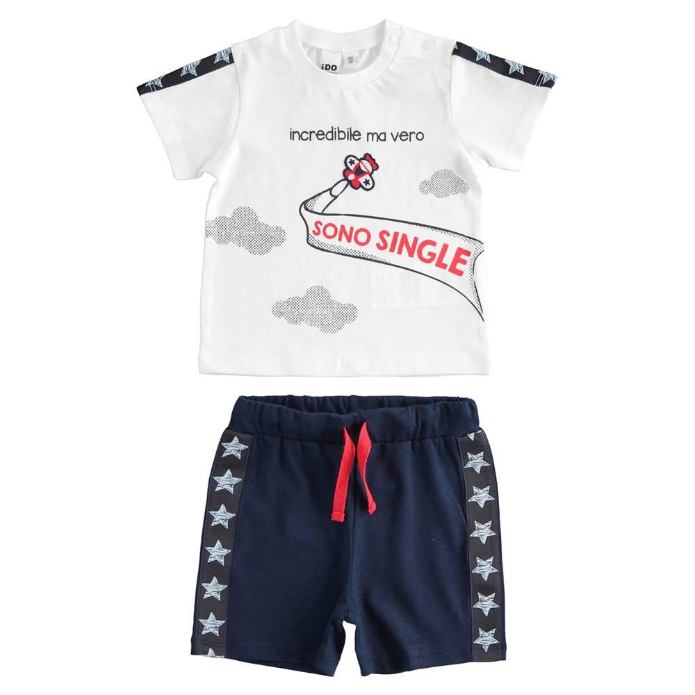 Комплект для мальчика iDO летний спортивный хлопок трикотаж принт 4.J623.00/8020