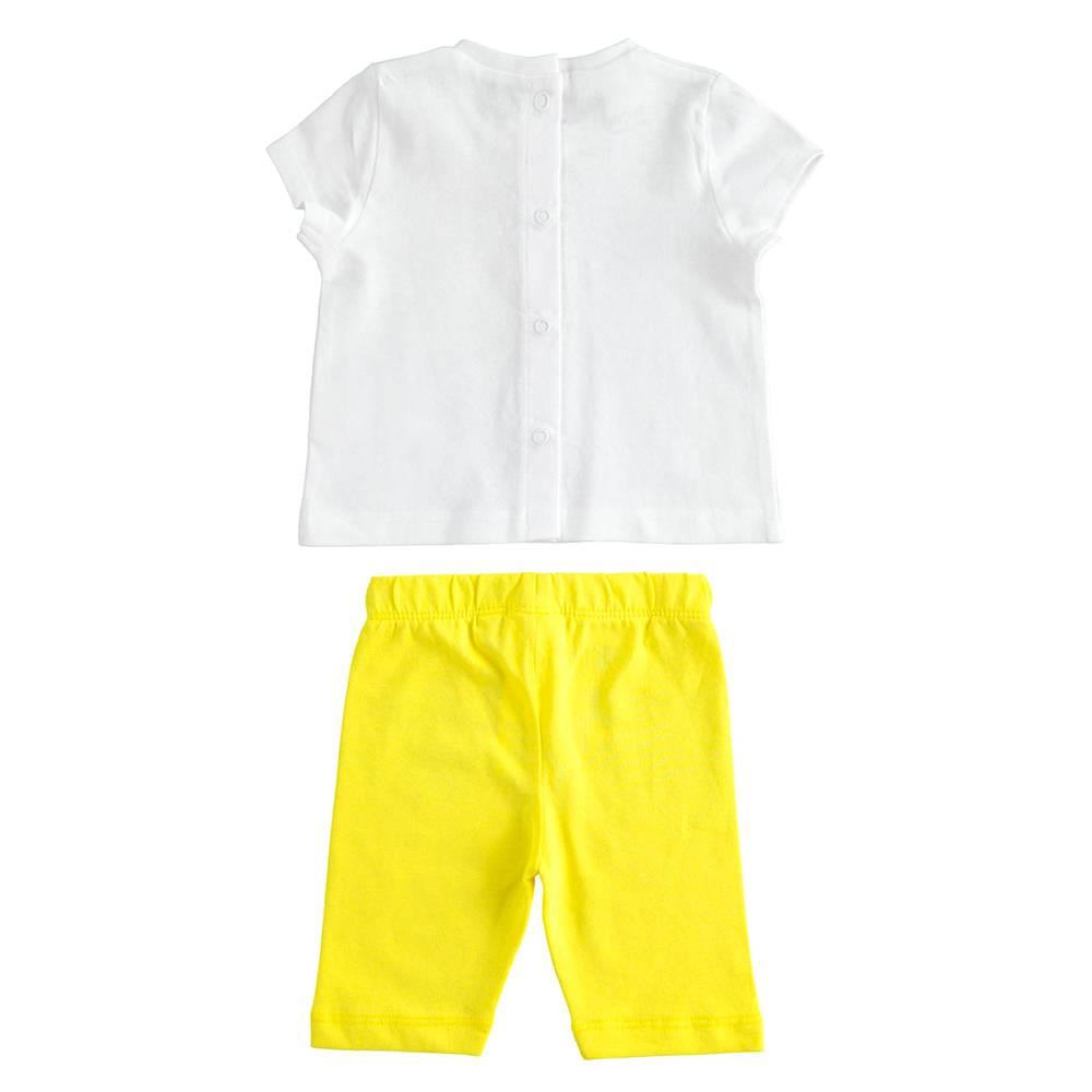 Комплект костюм для девочки iDO летний трикотаж хлопок футболка леггинсы 4.J653.00/8037