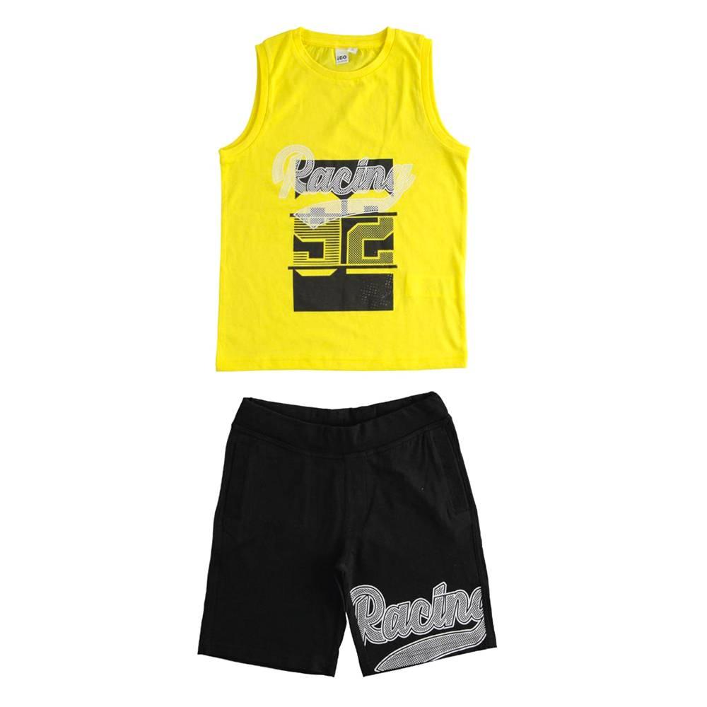 Комплект для мальчика iDO летний спортивный хлопок трикотаж принт 4.J019
