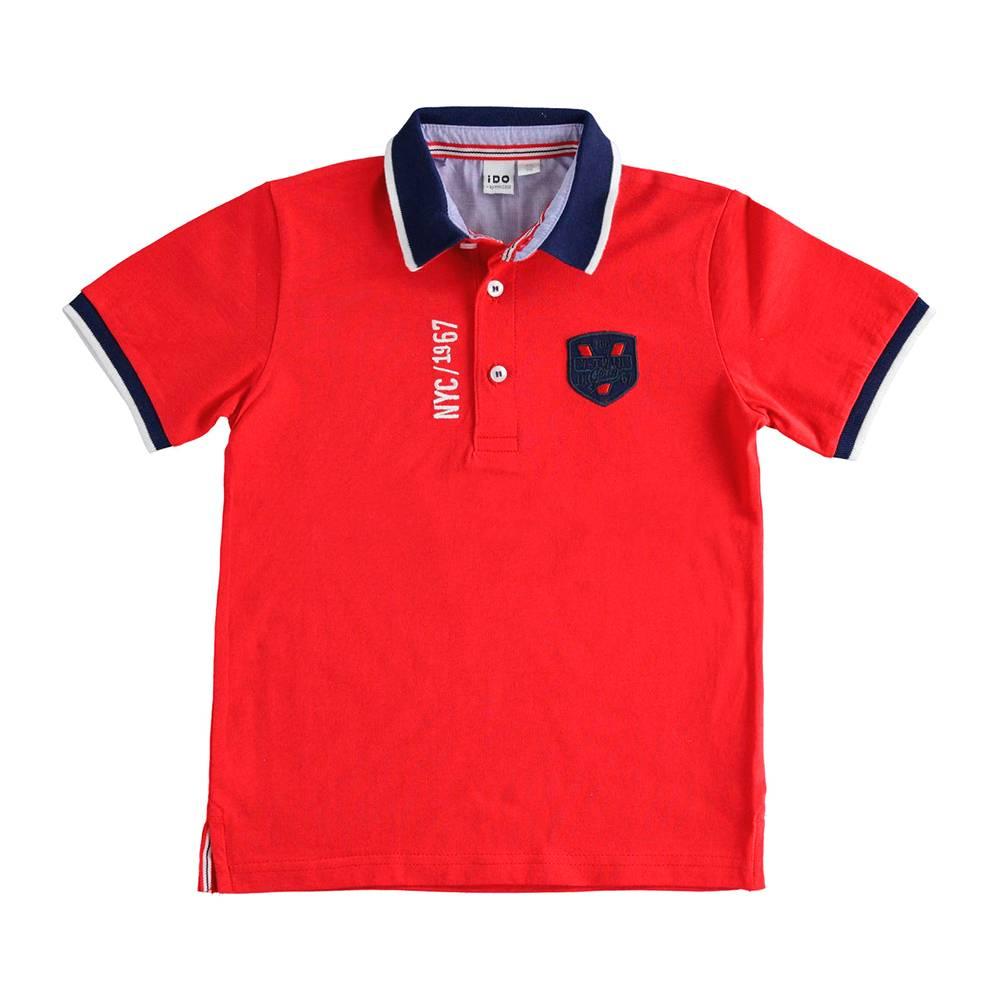 Поло футболка для мальчика iDO подростка трикотаж хлопок 4.J809.00