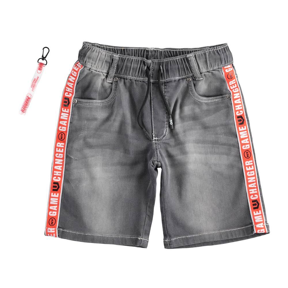 Шорты для мальчика iDO хлопок джинсовый потертости 4.J838.87/7992