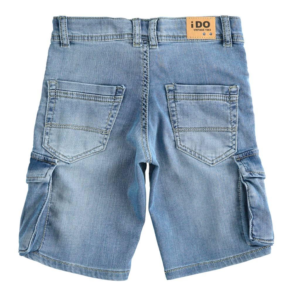 Шорты для мальчика iDO карго хлопок джинсовый потертости 4.J839.00/7310