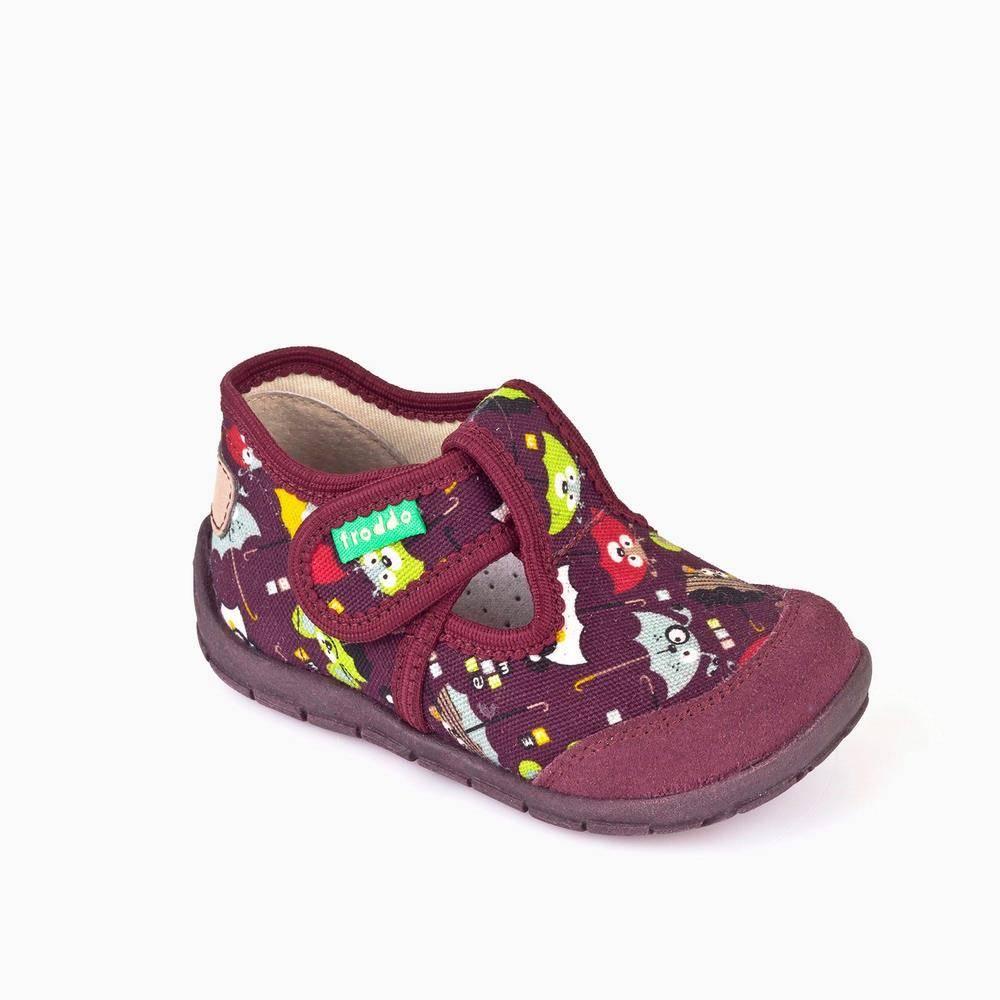 Тапочки для девочки Froddo текстиль липучка G1700132-2/bordeaux