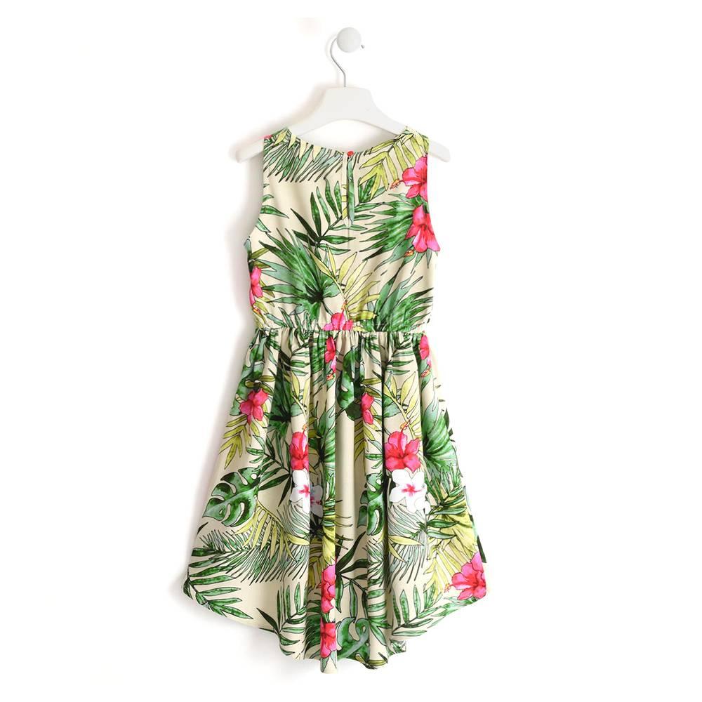 Платье для девочки iDO нарядное цветочный мотив 4.J853.00/6MT2