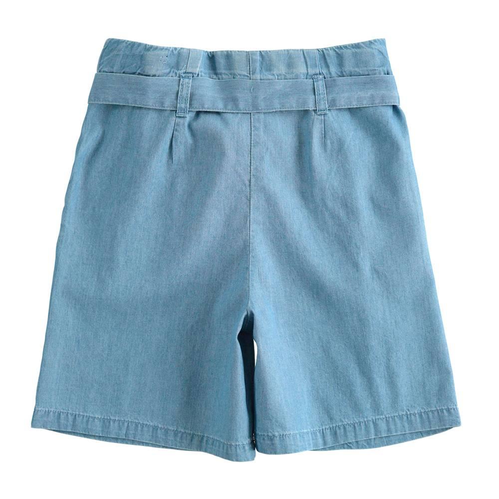 Шорты для девочки iDO летние тонкие джинсовые 4.J874.00/7350