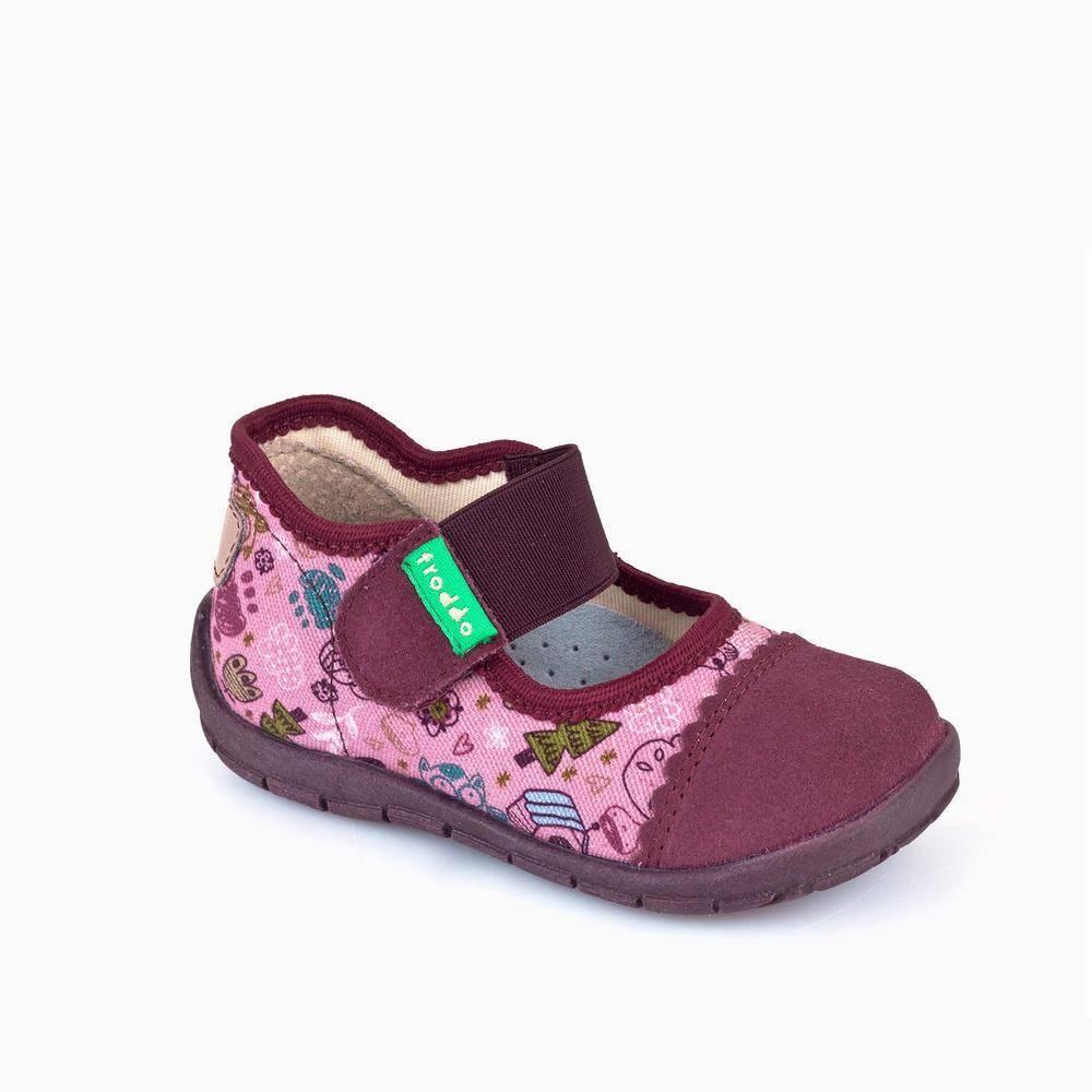 Тапочки для девочки Froddo текстиль розовый принт липучка G1700136/Pink