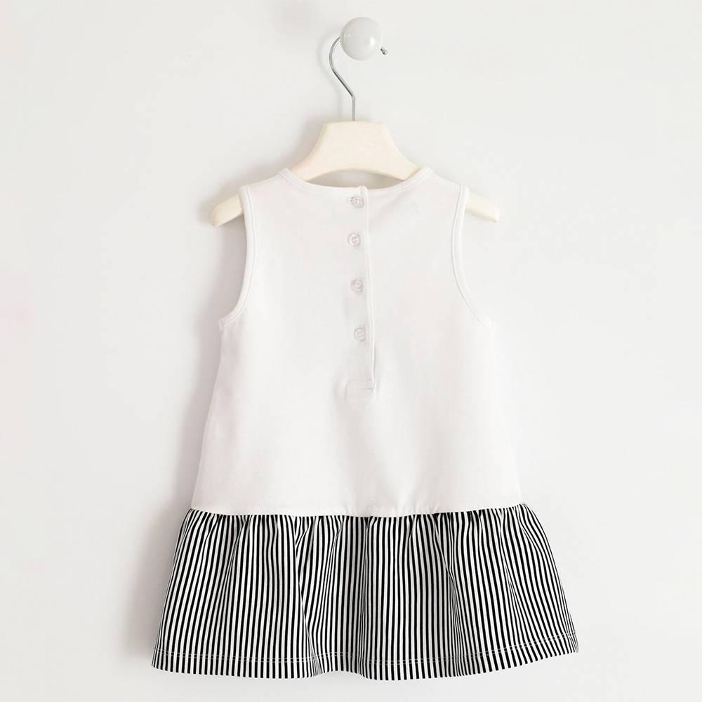 Платье для девочки iDO трикотажное хлопковое летнее с оборкой 4.J305.00/0113/12M