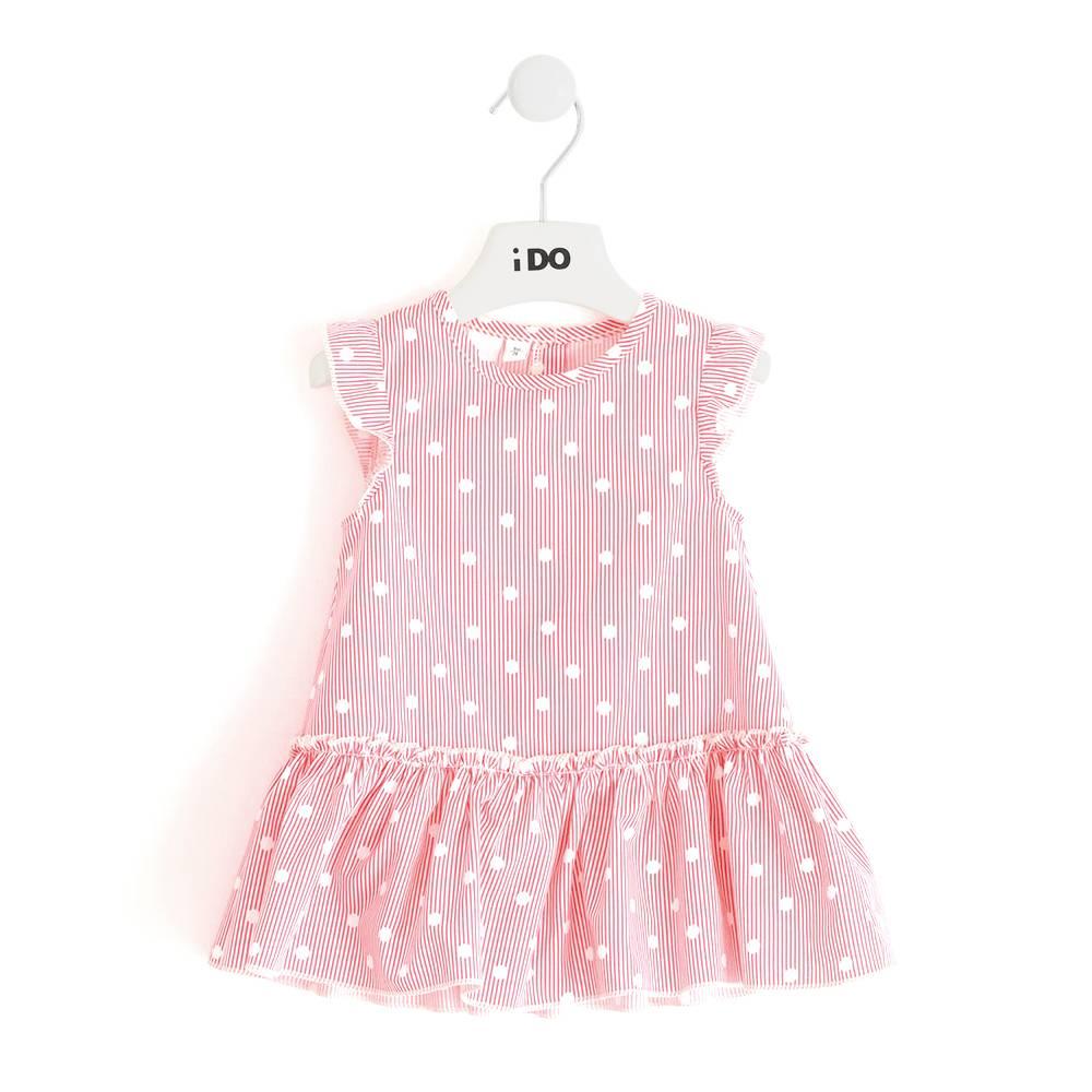 Платье для девочки iDO хлопок поплин 4.J740.00/8047