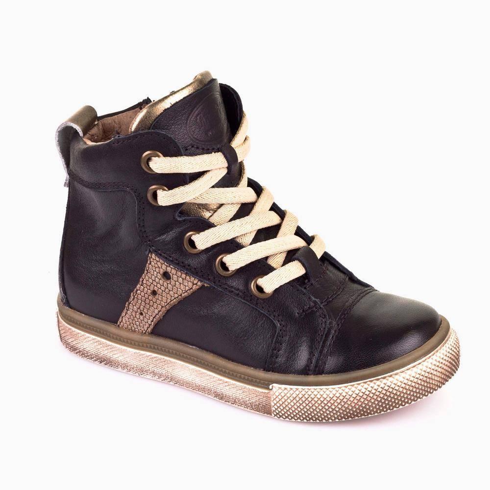 Кроссовки для девочки Froddo демисезонные натуральная кожа наппа с молнией G3110069-4/Black