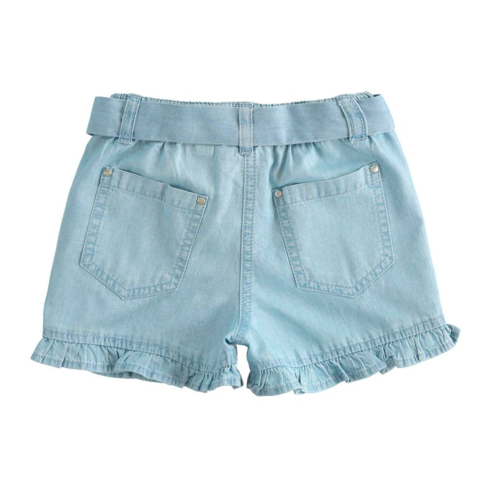 Шорты для девочки iDO летние тонкие джинсовые 4.J772.00/7310
