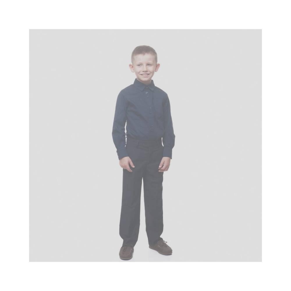 Рубашка для мальчика Kids Couture школьная синий 7171160016