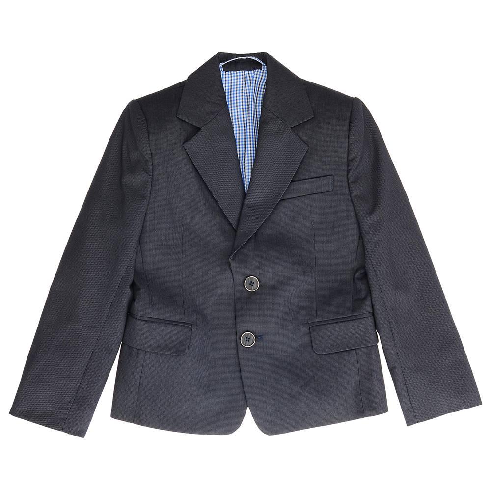 Пиджак для мальчика Kids Couture школьный серый 717116002