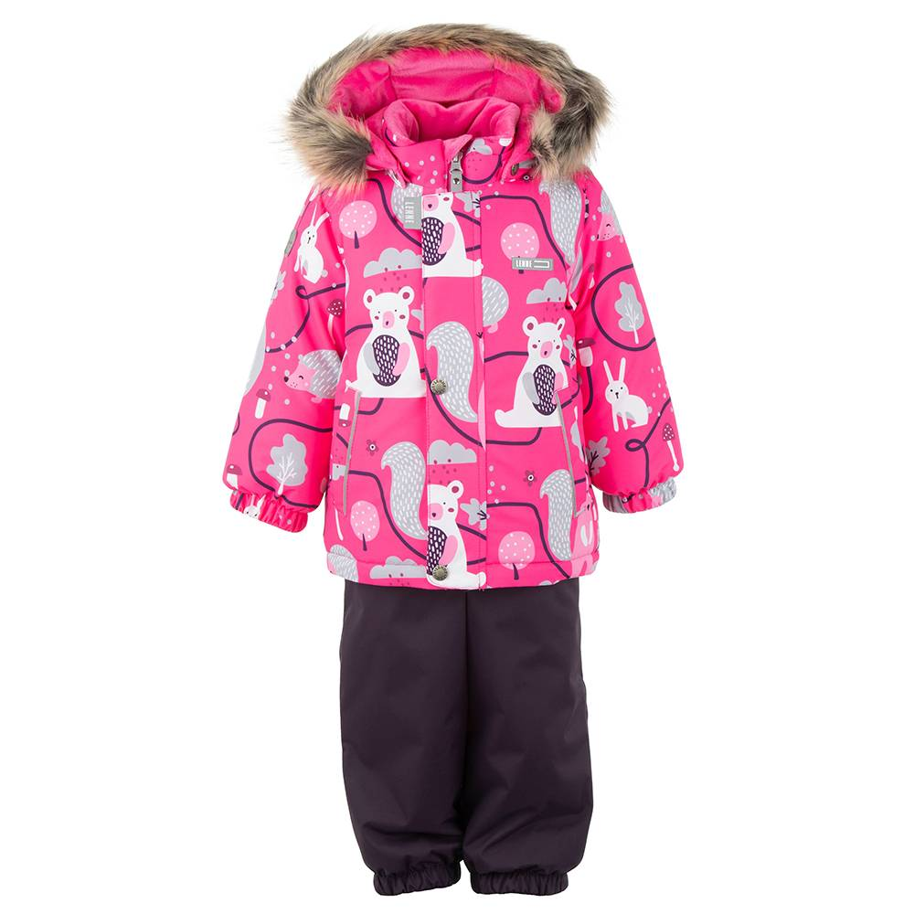 Комплект для девочки LENNE зимний куртка полукомбинезон FOREST 20315