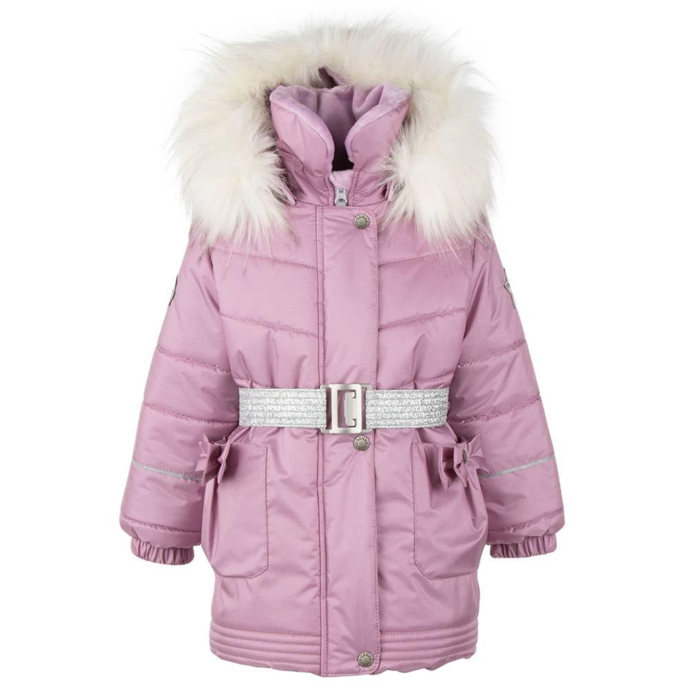 Пальто для девочки LENNE зимнее под пояс капюшон съемный ткань Active MARIA 20328