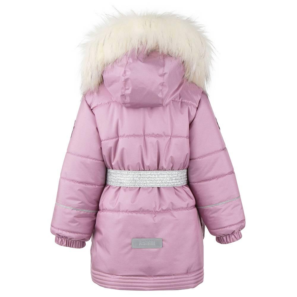 Пальто для девочки LENNE зимнее под пояс капюшон съемный ткань Active MARIA