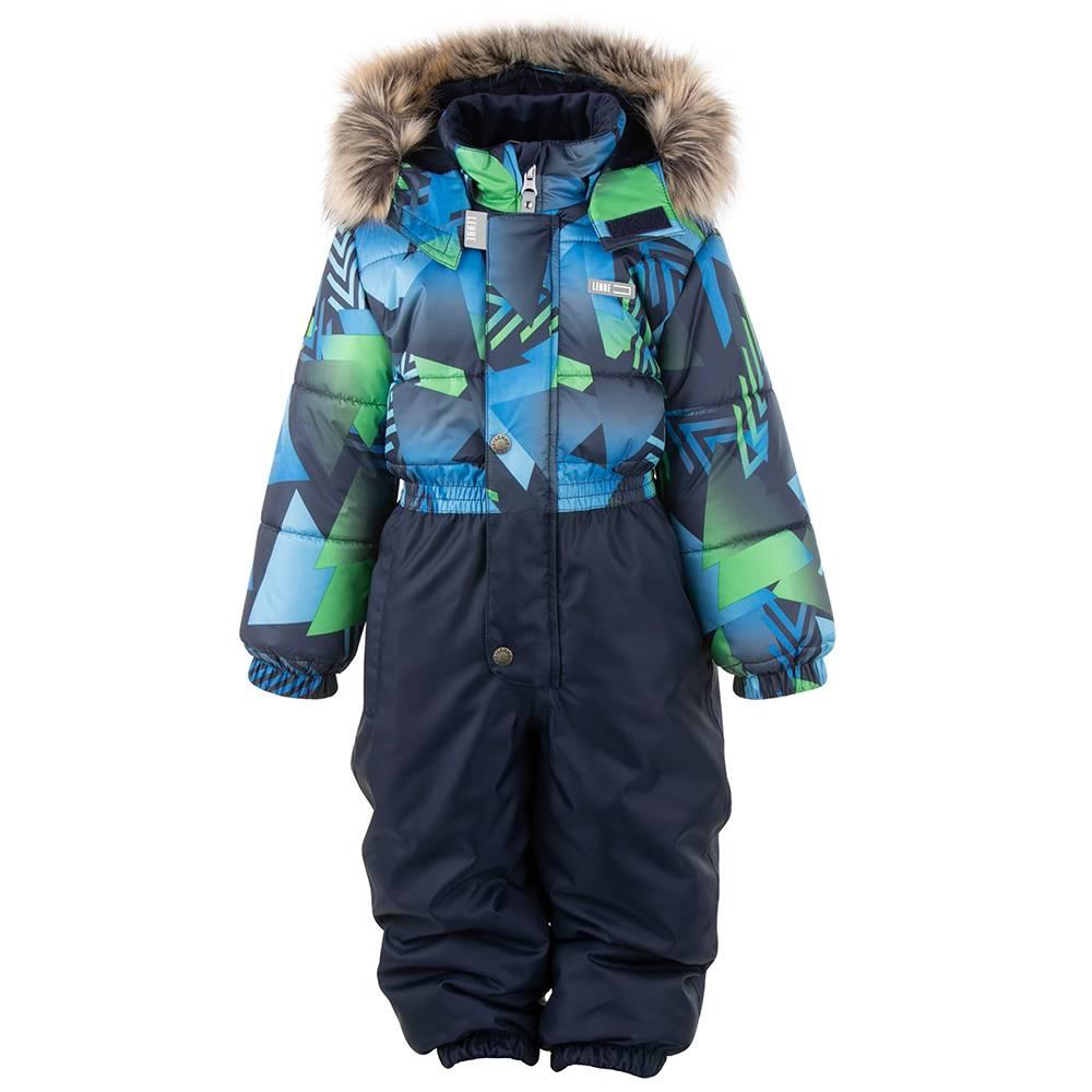 Комбинезон для мальчика LENNE зимний цельный капюшон и опушка съемные COLD 20324